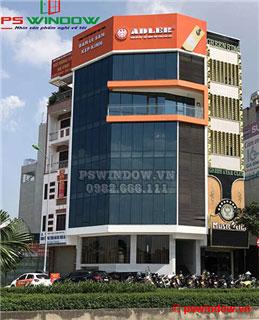 Thi công vách kính mặt dựng tòa nhà Adler, Hà Đông, Hà Nội
