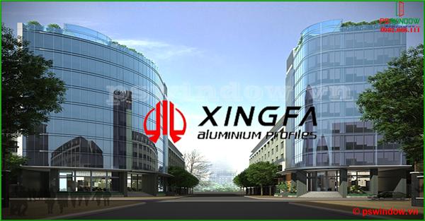 Vách kính mặt dựng nhôm Xingfa