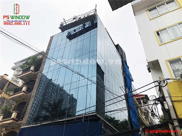 Thi công vách kính mặt dựng tại Thanh Xuân, Hà Nội