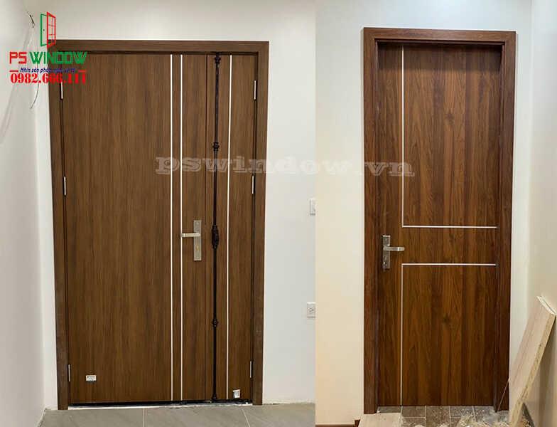 Cửa gỗ nhựa Composite bền bỉ và thân thiện với môi trường