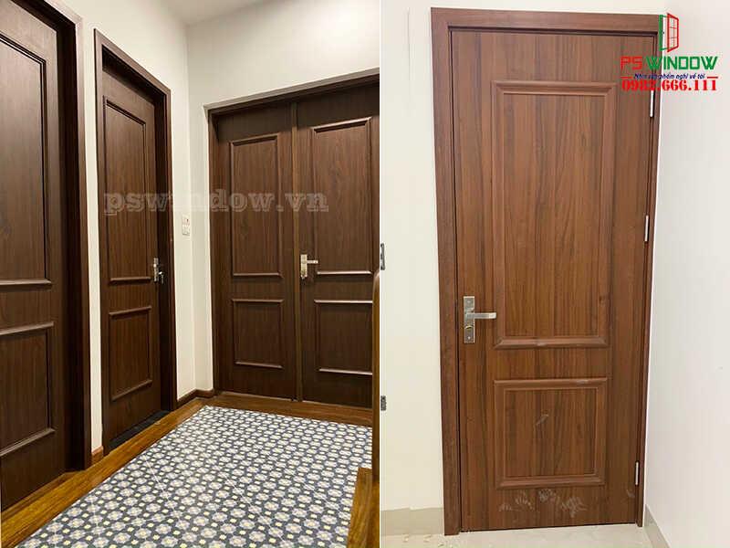 Cửa nhựa giả gỗ Composite thích hợp làm cửa ra, vào
