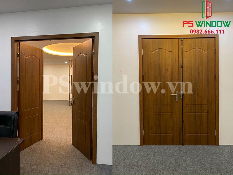 Cửa gỗ nhựa Composite 2 cánh
