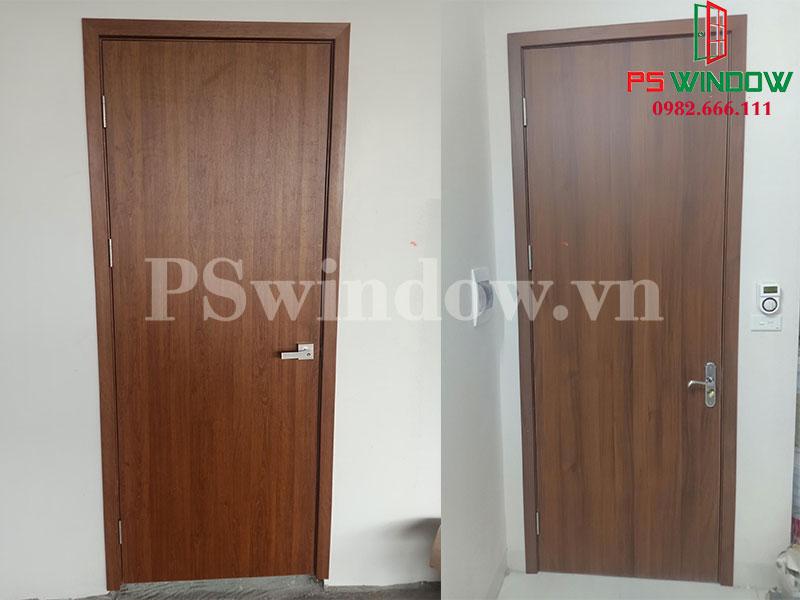 Cửa gỗ nhựa Composite thích hợp với nhiều phụ kiện tay nắm khác nhau