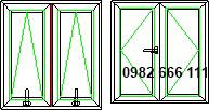 thi công cửa sổ nhôm kính 2 cánh